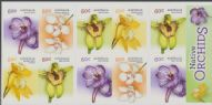 Aus SG4108a Australian Native Orchids self-adhesive booklet pane (SB454) of 10